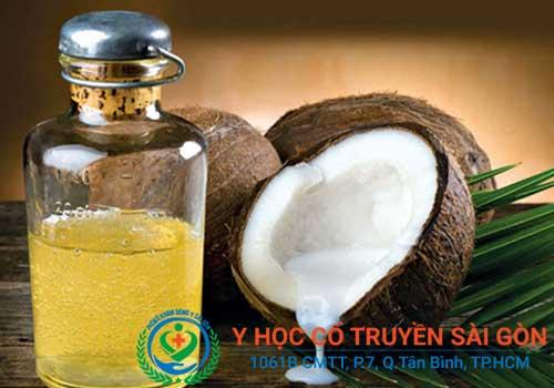 Chữa viêm nang lông bằng tình dầu dừa