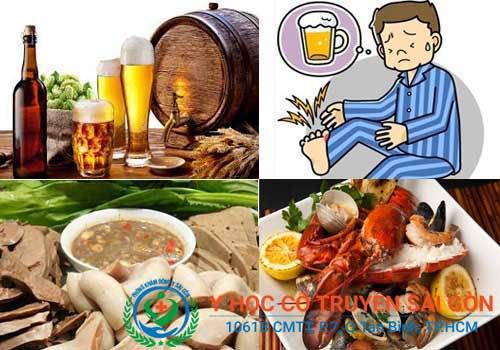 Hạn chế uống rượu bia để phòng tránh bệnh gút