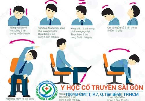 Đau vai gáy, đau đầu là bệnh thường gặp ở dân văn phòng