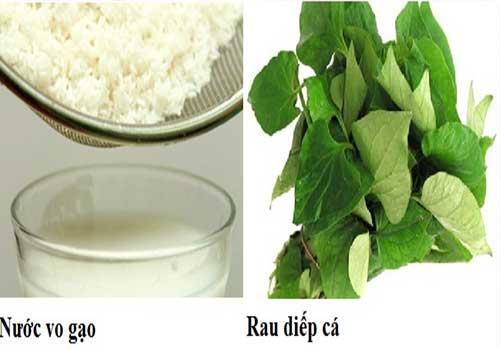 Cách chữa và điều trị ho khản tiếng có đờm bằng rau diếp cá và nước vo gạo