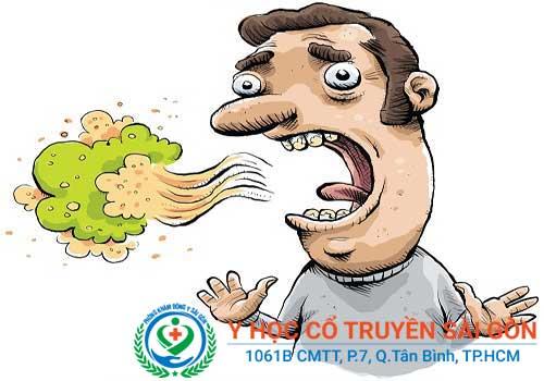 Đau dạ dày gây ra những cơn ợ chua, ợ nóng, làm bệnh nhân bị hôi miệng