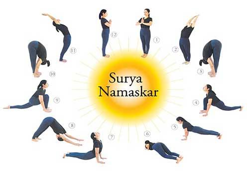 Điều trị và chữa thoát vị đĩa đệm bằng Yoga tư thế chào mặt trời