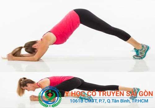 Bài tập chống tay chữa đau lưng
